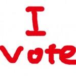 選挙のこと。